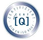 Zertifiziert CERT IQ  DIN EN ISO 9001