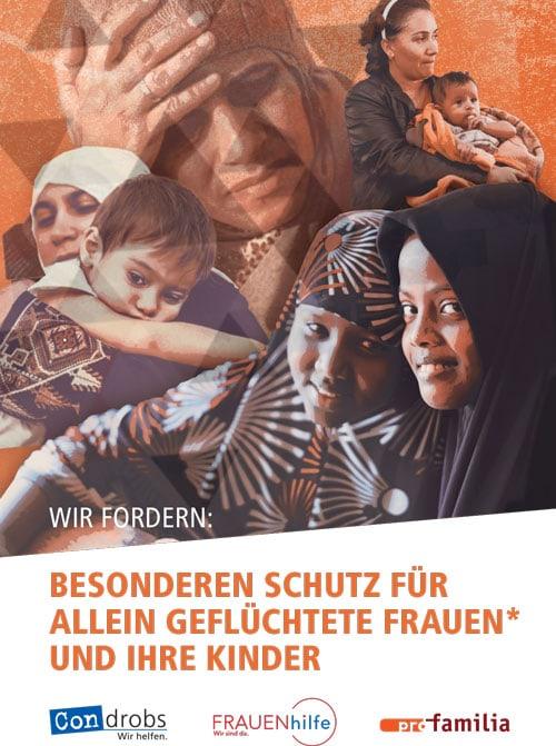 Wir fordern: Besonderen Schutz für Allein geflüchtet Frauen* und ihre Kinder