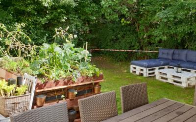 Ein gemütlicher Garten in der Puerto Vollbetreuten Wohngemeinschaft